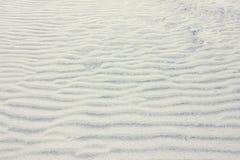 Dunas brancas do close up da areia de quartzo Foto de Stock Royalty Free