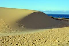 Dunas da paisagem de Corralejo, Fuerteventura, Ilhas Canárias, Espanha Imagens de Stock Royalty Free
