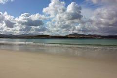 Dunas da praia e de areia de Balnakeil, Durness, montanhas escocesas noroestes Imagens de Stock