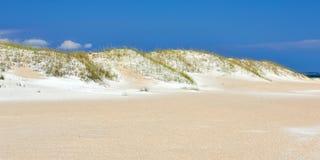 Dunas de areia ao longo de Emerald Isle, North Carolina fotos de stock royalty free