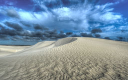 Dunas de areia brancas da reserva natural de Nilgen Foto de Stock