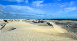 Dunas de areia brancas da reserva natural de Nilgen Imagens de Stock Royalty Free