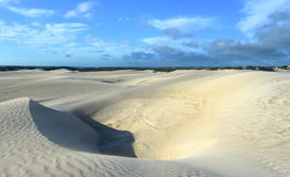 Dunas de areia brancas da reserva natural de Nilgen Fotografia de Stock Royalty Free