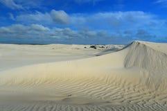 Dunas de areia brancas da reserva natural de Nilgen Imagens de Stock