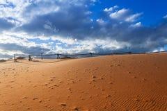 Dunas de areia cor-de-rosa corais Imagens de Stock Royalty Free