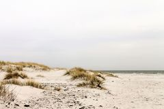 Dunas de areia da ilha bornholm - Dinamarca Imagem de Stock Royalty Free