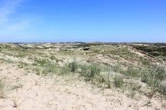 Dunas de areia de Egmond Zee aan Os Países Baixos imagens de stock