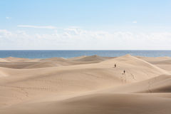 Dunas de areia de Maspalomas Fotografia de Stock