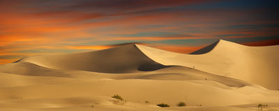 Dunas de areia do deserto Fotos de Stock Royalty Free