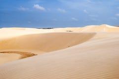 Dunas de areia do Lencois Maranheses em Brasil Foto de Stock Royalty Free