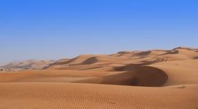 Dunas de areia do rolamento Fotos de Stock