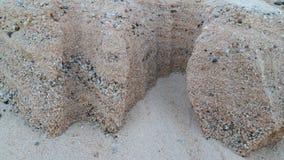Dunas de areia douradas bonitas no rio da lua fotos de stock
