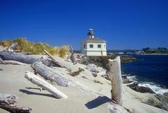 Dunas de areia e farol Fotos de Stock Royalty Free