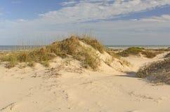 Dunas de areia na costa do golfo imagem de stock royalty free