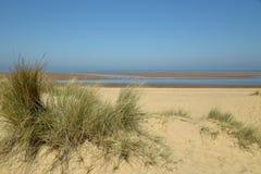 Dunas de areia na praia de Holkham em Norfolk Foto de Stock Royalty Free