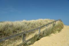 Dunas de areia na praia de Holkham em Norfolk Imagem de Stock Royalty Free