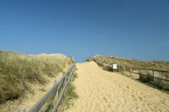 Dunas de areia na praia de Holkham em Norfolk Fotos de Stock
