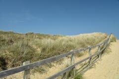 Dunas de areia na praia de Holkham em Norfolk Imagens de Stock