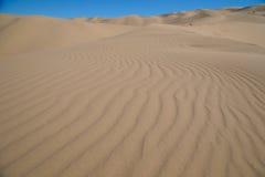 Dunas de areia no deserto Fotografia de Stock