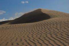 Dunas de areia no deserto de Gobi Imagens de Stock Royalty Free