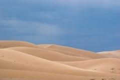 Dunas de areia no deserto de Gobi Foto de Stock