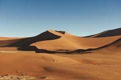 Dunas de areia no deserto de Namib Imagens de Stock Royalty Free