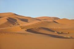 Dunas de areia no deserto de Sahara Fotografia de Stock Royalty Free