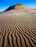 Dunas de areia no nascer do sol imagens de stock