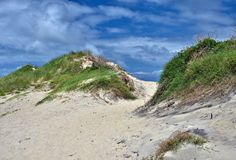 Dunas de areia nos bancos exteriores Foto de Stock