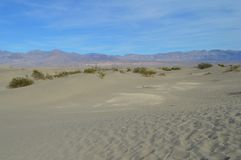 Dunas de areia o Vale da Morte do Mesquite Califórnia do sul Fotos de Stock