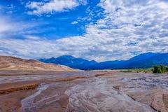 Dunas de areia parque nacional, Colorado Fotografia de Stock