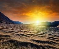 Dunas de areia Vale de Nubra, Ladakh, India Fotos de Stock Royalty Free