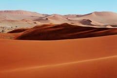 Dunas de areia vermelhas Imagem de Stock Royalty Free