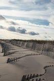 Dunas de arena azotadas por el viento, Hampton New York del este Foto de archivo libre de regalías