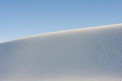 Dunas de arena blancas Imagen de archivo libre de regalías