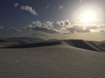 Dunas de arena blancas Fotos de archivo