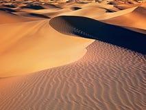 Dunas de arena de Death Valley Imagen de archivo libre de regalías