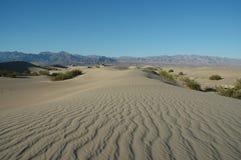 Dunas de arena de Death Valley N.P. Imagen de archivo libre de regalías