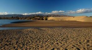 Dunas de arena de Gran Canaria Maspalomas Imagen de archivo libre de regalías