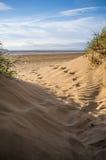 Dunas de arena de la playa de Brean Fotos de archivo libres de regalías