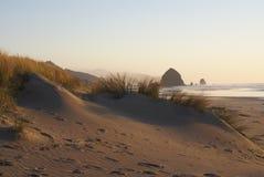 Dunas de arena de la playa del cañón Imagen de archivo