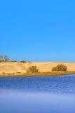 Dunas de arena de '' Mas Palomas '' Imagen de archivo libre de regalías