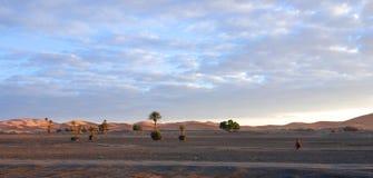 Dunas de arena de Merzouga Imágenes de archivo libres de regalías