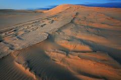 Dunas de arena de plata del lago Imagen de archivo libre de regalías