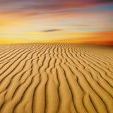 Dunas de arena del desierto Imagen de archivo libre de regalías