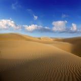 Dunas de arena del desierto en Maspalomas Gran Canaria Imágenes de archivo libres de regalías