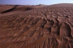 Dunas de arena del desierto occidental Imágenes de archivo libres de regalías