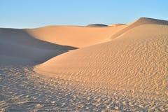 Dunas de arena en el área recreativa imperial de las dunas de arena, California Fotos de archivo libres de regalías