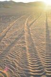 Dunas de arena en el área recreativa imperial de las dunas de arena, California Fotos de archivo
