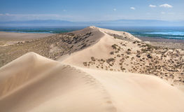 Dunas de arena en el desierto Fotos de archivo libres de regalías